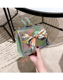 Дамска чанта с атрактивен дизайн от силикон с панделка - код B62 - 3