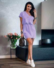 Φόρεμα - κώδ. 3214 - ανοιχτό μωβ