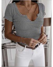 Κοντομάνικο μπλουζάκι - κώδ. 3667 - λευκό