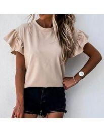 Κοντομάνικο μπλουζάκι - κώδ. 3850 - μπεζ