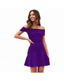Φόρεμα - κώδ. 611 - σκούρο μωβ