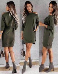 Φόρεμα - κώδ. 0796 - λαδί