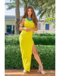 Φόρεμα - κώδ. 11966 - κίτρινο