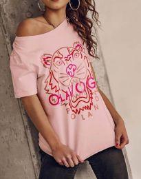 Κοντομάνικο μπλουζάκι - κώδ. 11721 - ροζ