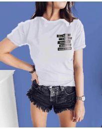 Κοντομάνικο μπλουζάκι - κώδ. 437 - λευκό