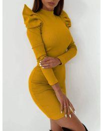 Φόρεμα - κώδ. 9303 - μουσταρδί