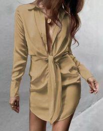 Φόρεμα - κώδ. 5866 - μπεζ