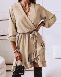 Φόρεμα - κώδ. 5371 - μπεζ