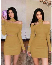 Φόρεμα - κώδ. 3982 - καφέ