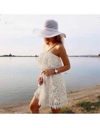 Φόρεμα - κώδ. 4849 - λευκό