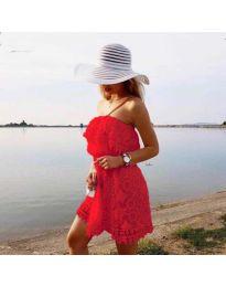 Φόρεμα - κώδ. 4849 - κόκκινο