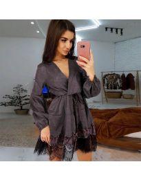 Φόρεμα - κώδ. 3738 - σκούρο γκρι