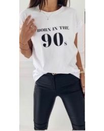 Κοντομάνικο μπλουζάκι - κώδ. 947 - 1 - λευκό