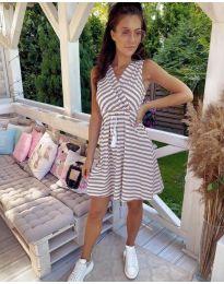 Φόρεμα - κώδ. 3148 - μπεζ