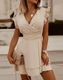 Φόρεμα - κώδ. 5654 - μπεζ
