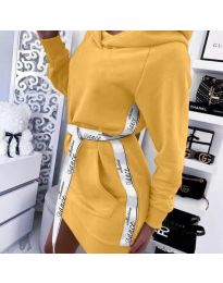 Φόρεμα - κώδ. 4483 - μουσταρδί