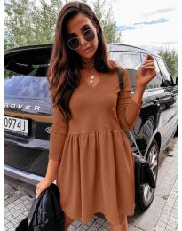 Φόρεμα - κώδ. 0060 - καφέ