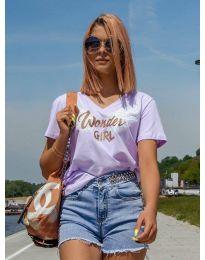Κοντομάνικο μπλουζάκι - κώδ. 4261 - μωβ