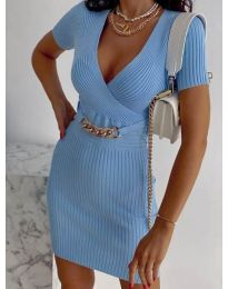 Φόρεμα - κώδ. 4305 - γαλάζιο