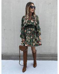 Φόρεμα - κώδ. 7712 - 5 - πολύχρωμο