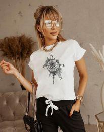 Κοντομάνικο μπλουζάκι - κώδ. 3245 - λευκό