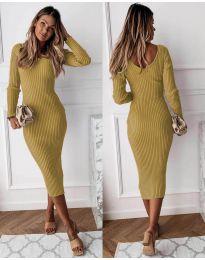 Φόρεμα - κώδ. 928 - μουσταρδί