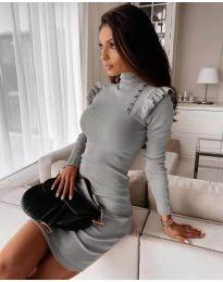 Φόρεμα - κώδ. 8484 - γκρι