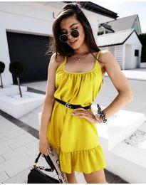 Φόρεμα - κώδ. 7768 - κίτρινο