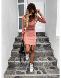 Φόρεμα - κώδ. 4040 - ροδακινί