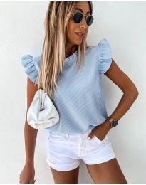 Κοντομάνικο μπλουζάκι - κώδ. 982 - γαλάζιο