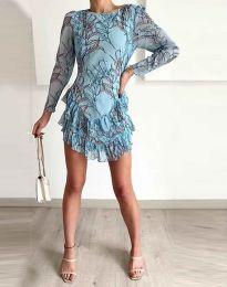 Φόρεμα - κώδ. 3610 - 1 - μπλε