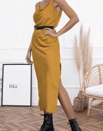 Φόρεμα - κώδ. 6231 - μουσταρδί