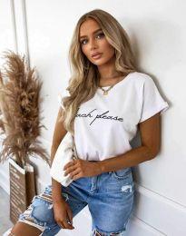 Κοντομάνικο μπλουζάκι - κώδ. 4804 - λευκό