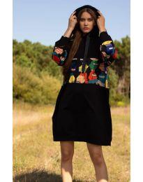 Φόρεμα - κώδ. 4546 - 3 - μαύρο