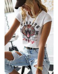 Κοντομάνικο μπλουζάκι - κώδ. 3023 - 1 - λευκό