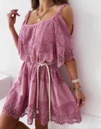 Φόρεμα - κώδ. 6954 - πούδρα