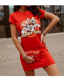 Φόρεμα - κώδ. 0303 - 3 - κόκκινο