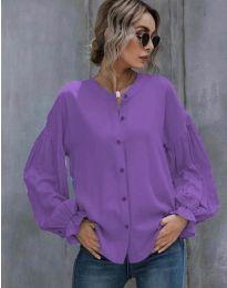 Свободна дамска риза в лилаво - код 1648