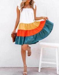Φόρεμα - κώδ. 4825 - 1 - πολύχρωμο