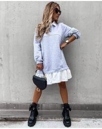 Φόρεμα - κώδ. 5516 - γκρι