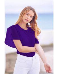 Κοντομάνικο μπλουζάκι - κώδ. 527 - σκούρο μωβ