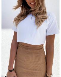 Κοντομάνικο μπλουζάκι - κώδ. 608 - λευκό