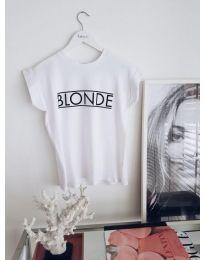 Κοντομάνικο μπλουζάκι - κώδ. 975 - λευκό