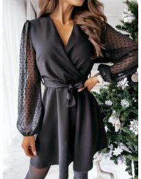 Φόρεμα - κώδ. 1600 - 1 - μαύρο
