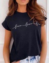 Κοντομάνικο μπλουζάκι - κώδ. 4360 - μαύρο