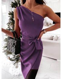 Φόρεμα - κώδ. 6442 - 4 - μωβ