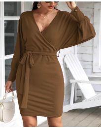 Φόρεμα - κώδ. 1197 - καφέ