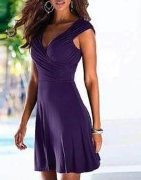 Φόρεμα - κώδ. 4751 - 4 - σκούρο μωβ