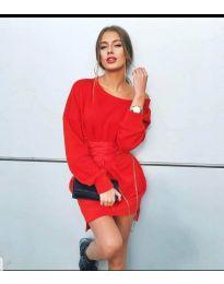Φόρεμα - κώδ. 854 - 2 - κόκκινο