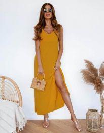 Φόρεμα - κώδ. 11881 - μουσταρδί